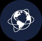 Icon Weltweit vernetzt Gefahrgutlogistik von Lithium-Ionen-Batterien