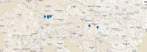 Standorte Transport von Lithium-Ionen-Batterien